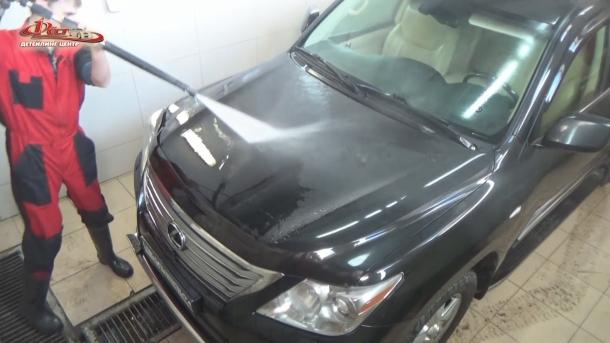 Мойка автомобиля - предварительное смачивание